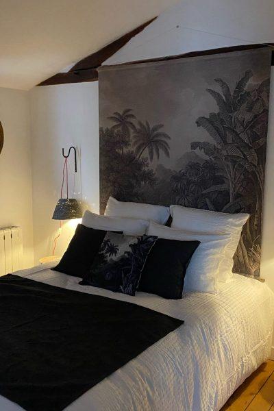 chambre lit double noir armandii