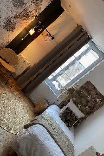 chambre lit simple vert armandii